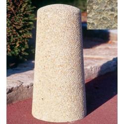 Borne conique diam 25xH50 cm gravillons lavés gros
