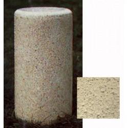 Borne ronde diam 30xH70 cm ton pierre