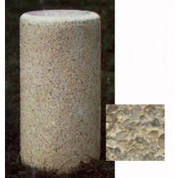 Borne ronde diam 30xH70 cm gravillons lavés grosBorne ronde diam 30xH70 cm gravillons lavés gros