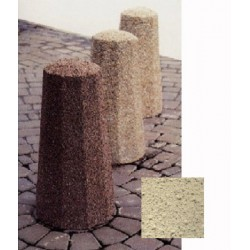 Borne octogonale diam 30xH60 cm ton pierre sabloé