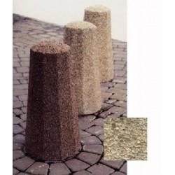 Borne octogonale diam 30xH60 cm gravillons lavés fins