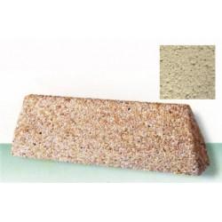 Bordure 100x20xH30 cm ton pierre sablé