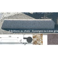 Butoir Giroflée lisse gris L100xP20xH14 cm