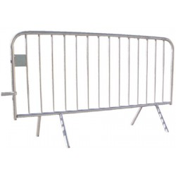 barrière police 14 barreaux avec plaque