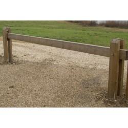 Barrière bois amovible avec cadenas L4,5 m