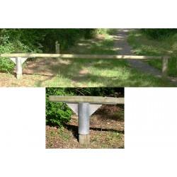Barrière pivotante passage 4 m