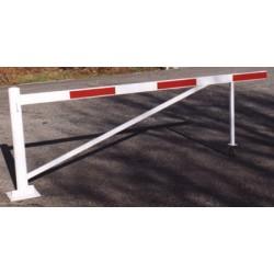Barrière tournante avec support roulette 6 m