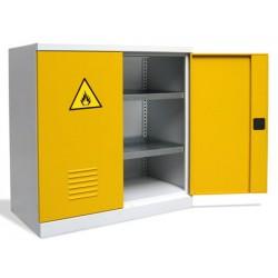 Armoire basse de sureté 2 étagères simples L100xP54xH104 cm