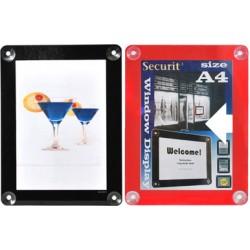Porte affiche A4 27x36 cm noir ou rouge