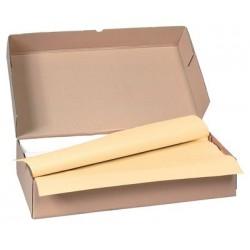Carton de 500 nappes papier 70 x 70 cm ivoire