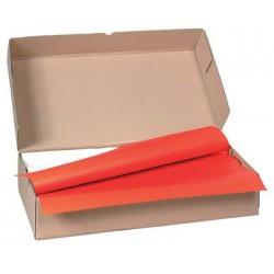 Carton de 500 nappes papier 70 x 70 cm rouge