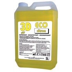 Détergent désinfectant désodorisant 3d eco citron vert 5L
