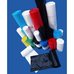 Carton de 5 rlx de 20 sacs poubelles 130L bd 60 microns noir