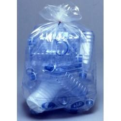 Carton de 8 rlx de 25 sacs poubelles 130L bd 38 microns nf transparent