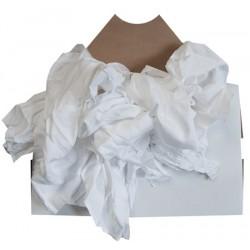 Drap blanchisserie coton blanc carton de 10 kg