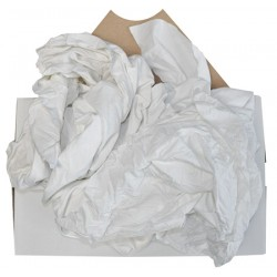 Drap optique coton blanc carton de 10 kg