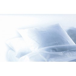 Carton de 200 taies d'oreiller blanches jetables 65 x 65 cm