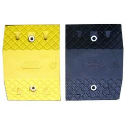 Ralentisseur modulable 2 éléments noirs et jaune 40 x 25 x H7 cm