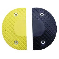 Ralentisseur modulable 2 embouts noir et jaune 40 x 22 x H7 cm