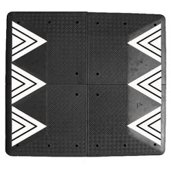 Coussin berlinois Certu noir 4 éléments 200 x 180 cm