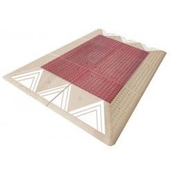 Coussin berlinois Certu rouge et blanc 6 éléments 300 x 180 cm