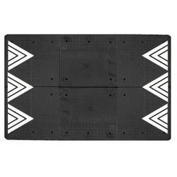 Coussin berlinois Certu noir 6 éléments 300 x 180 cm