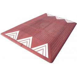 Coussin berlinois Certu rouge 6 éléments 300 x 180 cm