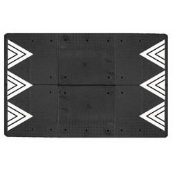 Coussin berlinois noir 8 éléments 400 x 180 cm