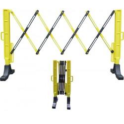 Barrière extensible plastique noire et jaune L200 x H100 cm
