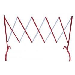 Barrière extensible acier rouge et blanc L230 x H105 cm