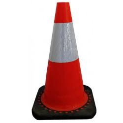 Cone réfléchissant classe 2 base 27 x 27 x H45 cm