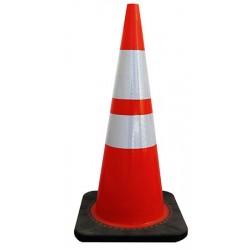 Cone réfléchissant classe 2 base 36 x 36 x H75 cm