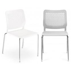 Lot de 4 chaises coque empilables Calado