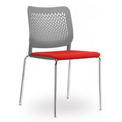 Lot de 4 chaises coques empilables Calado assise tapissée gr1