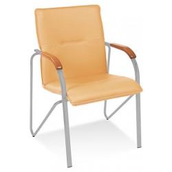 Lot de 2 fauteuils empilables Samba tissu groupe 0 pieds alu