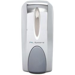 Distributeur de savon manuel chromé 1000 ml