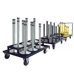 Chariot additionnel pour 6 poteaux d'accueil