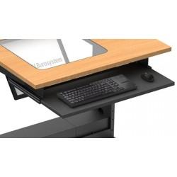Tablette clavier télescopique postes Futura