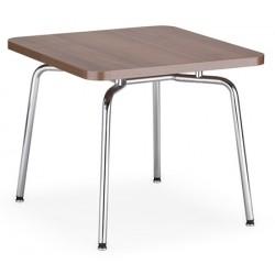 Table basse carree Hello mélaminé pieds alu 55 x 55 cm
