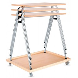 Chariot pour tables Axo empilables