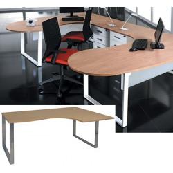 Bureau plan compact 2 pieds 1 poutre Urban L 160 cm à droite