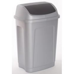 Lot de 5 poubelles polypropylène à trappe basculante 50L