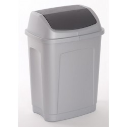 Lot de 10 poubelles polypropylène à trappe basculante 10L