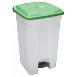 Collecteur JVD à pédale HACCP 70 L couvercle vert