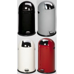 Poubelle dôme 22L avec pédale anti-odeur et non-feu