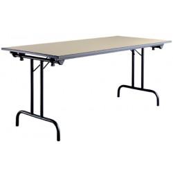 Table pliante Athena 120x70 mélaminé 22 mm chant PVC
