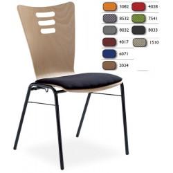 Option placet d assise tissu M1 pour chaise coque bois Katie