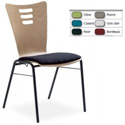 Option placet d assise tissu enduit M2 pour chaise coque bois Katie
