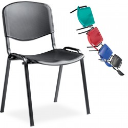 Chaise coque empilable et accrochable Anne polypropylène non feu M2