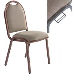 Chaise empilable et accrochable Eleanor tissu non feu M1